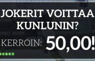 KHL: Jokerit-Kunlun – Jokereiden voitosta tarjolla megakerroin 50.00