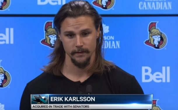 Erik Karlsson otettiin kernaasti vastaan San Joseen - katso kuvat!