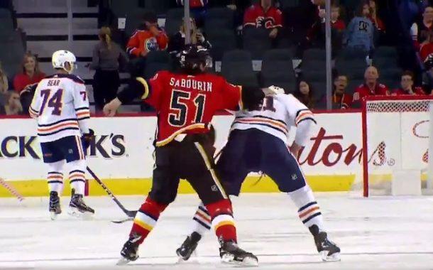 VIDEO: Battle of Alberta on täällä jälleen - NHL:n harjoitusottelussa tappelu