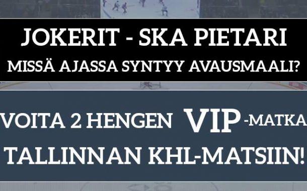 KISA: Veikkaa Jokerien avausmaalia ja voita VIP-matka Tallinnaan!