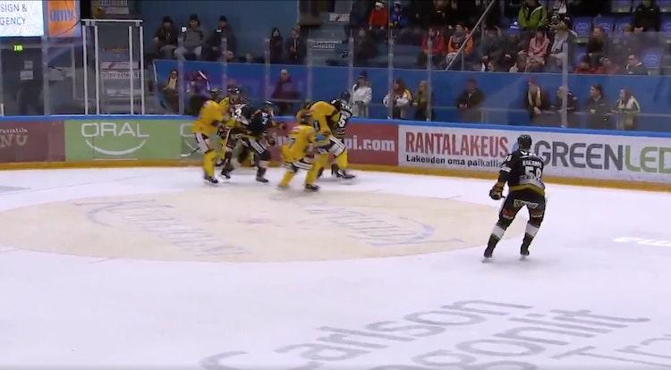 VIDEO: Lasse Kukkoselle pelikieltoa päähän kohdistuneesta taklauksesta