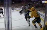 VIDEO: Ryan Johansen sai pelikieltoa hurjasta korkeasta mailastaan