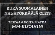 Testaa, kuka suomalainen NHL-hyökkääjä olet!