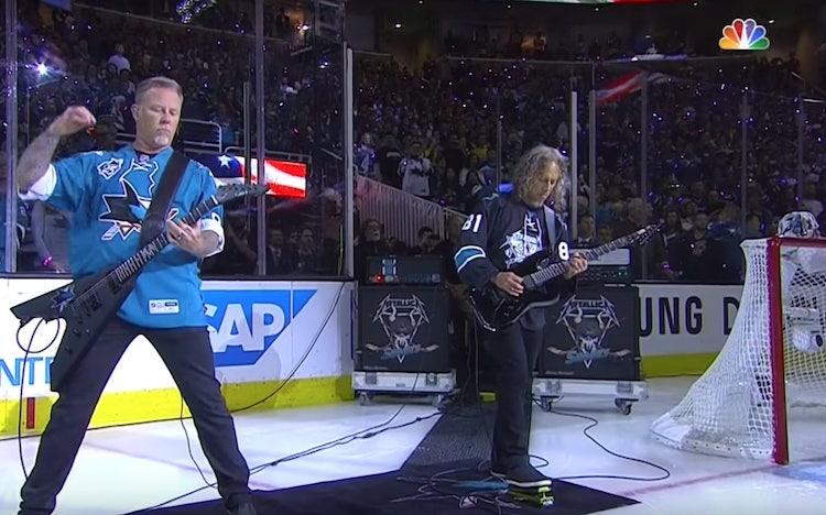 Klassikkovideo: Metallica esitti kansallislaulun ennen Stanley Cupin finaalia