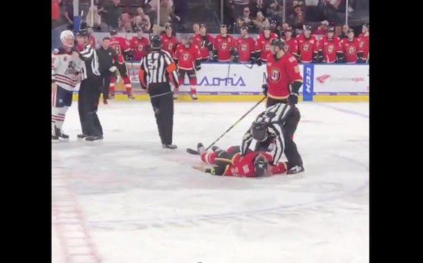VIDEO: Järkyttävä isku - AHL:ssä vastustaja tyrmättiin kanveesiin