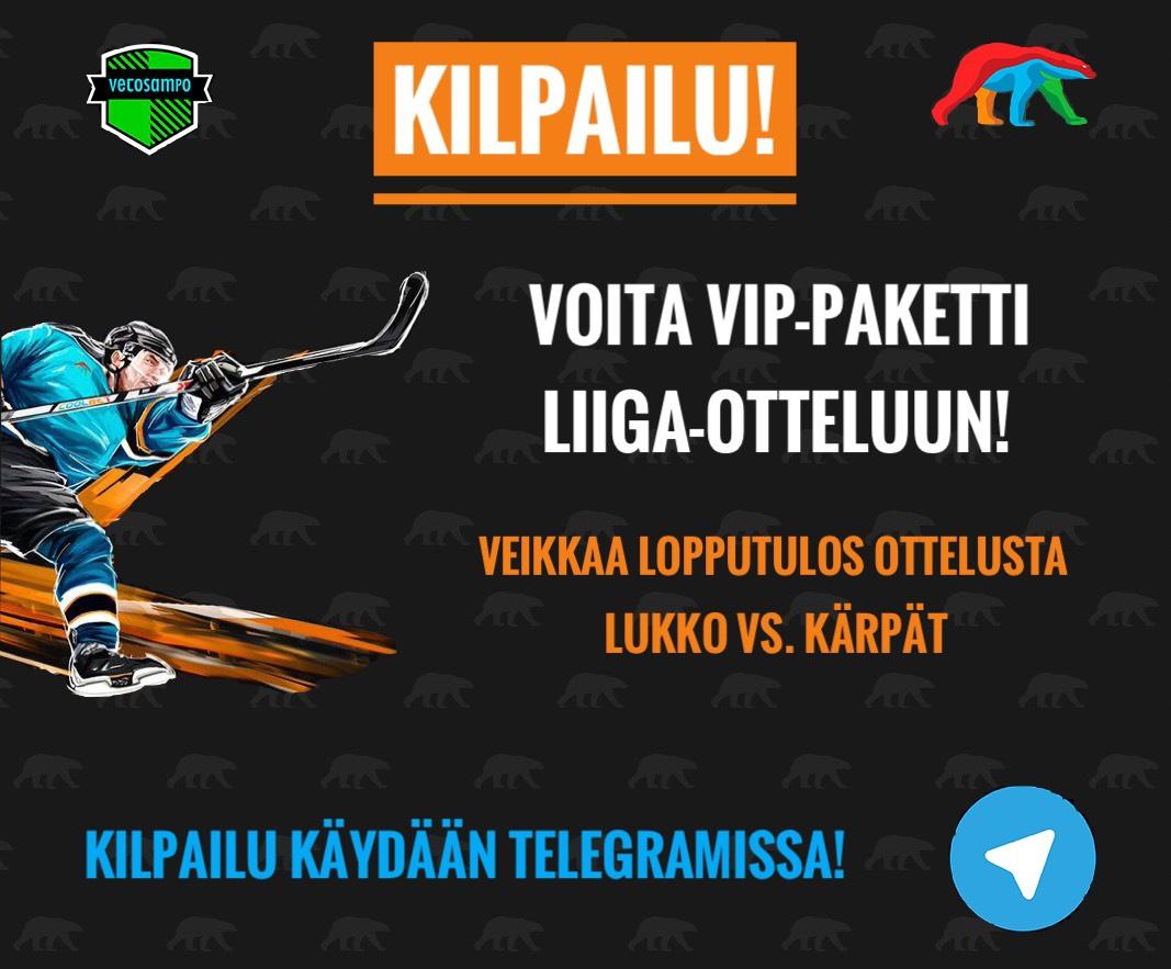 KISA! Veikkaa Lukko vs. Kärpät -pelin lopputulos - voita VIP-paketti Liiga-matsiin!