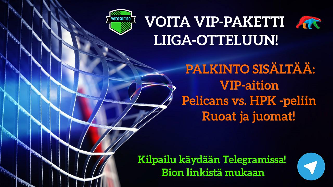 Vetosampon lätkäkisa: Voita VIP-paketti Liiga-otteluun!