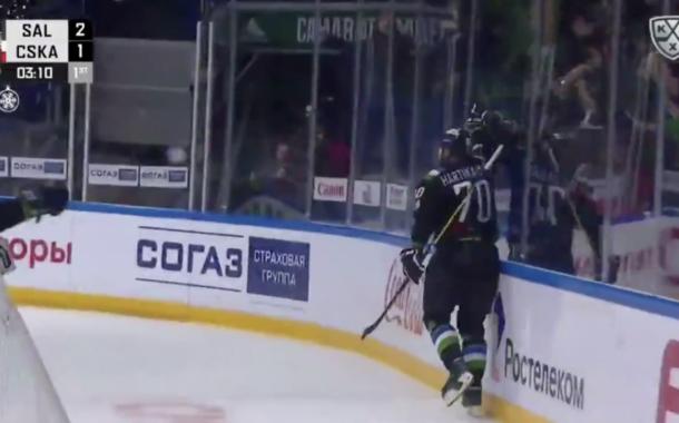 Video: Teemu Hartikainen iski kuudessa minuutissa hattutempun KHL-jätin verkkoon