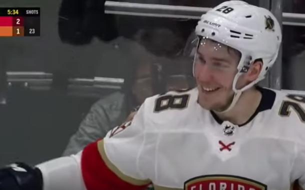 Video: Aleksi Saarelalle uran ensimmäinen NHL-maali