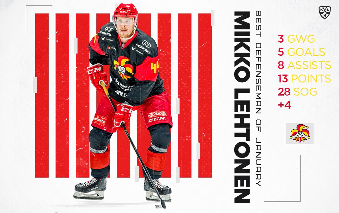 Mikko Lehtosesta taas kuukauden puolustaja - teki KHL-historiaa!