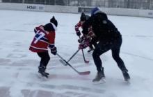Video: Ilja Kovalchuk höynäytti lapsiaan ulkojäällä pahemman kerran