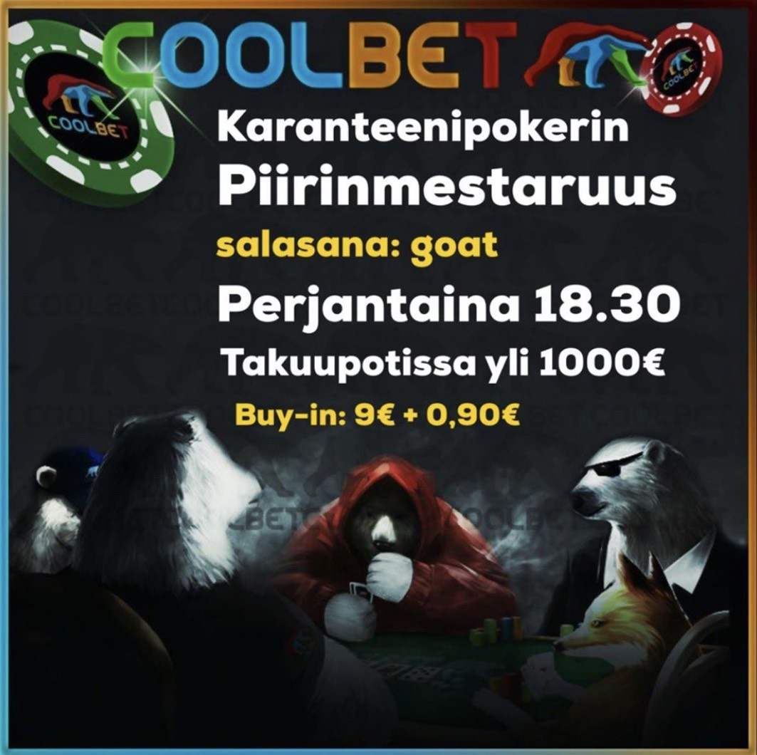 Karanteenipokerin Piirinmestaruus 2020 -turnaus Coolbetilla