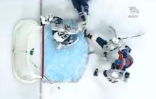 Video: Pekka Rinteen jäässä makaava maila pelastaa varman maalin