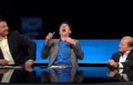 Video: Juhani Tammisen tuolisekoilu räjäyttää Maikkarin kiekkostudion nauruun