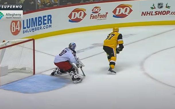 Klassikkovideo: Sidney Crosbyn kuvankaunis no look -syöttö ja kiekko reppuun